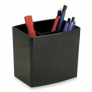 Officemate International Corp Pencil Holder Large 3 Compartmentss Black