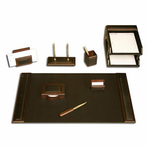 Dacasso 10 Piece Desk Set Walnut