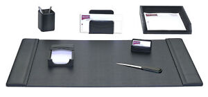 Dacasso 7 Piece Desk Set Black