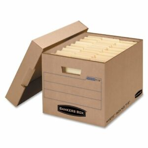 Bankers Box Filing Storage Box With Locking Lid Letter legal Kraft 25 carton