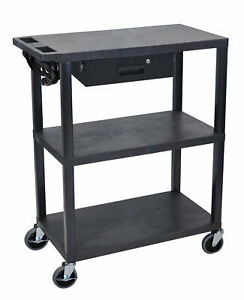 Offex Metal Av Cart