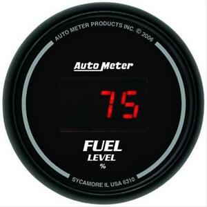Autometer Sport Comp Digital Series Gauge Fuel Level 2 1 16 Dia 6310