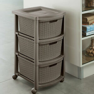 Rebrilliant Berrian 3 Drawer Rolling Storage Chest