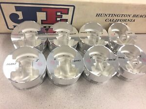 New Je Dome Pistons Chevy 18 Heads 4 126 Bore 1 340 Ch 927 2 950 Pin