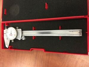 Used Starrett 0 8 Dial Caliper 3202 In Case cal Due 5 18