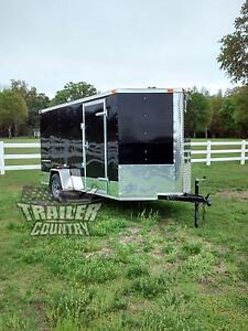 New 2018 6x12 6 X 12 V nosed Enclosed Cargo Motorcycle Trailer Ramp