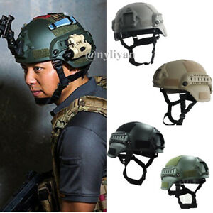 Military Mich2000 Outdoor Airsoft Military Tactical Combat Riding Hunting Helmet