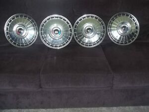 1962 Ford Galaxie 500 Sunliner Nice 14 Hubcaps wheel Covers Fomoco Set Of 4