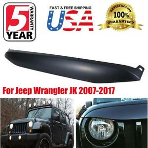 For 2007 2017 Jeep Wrangler Jk Nighthawk Light Brow Front Grille Cover Decor Usa