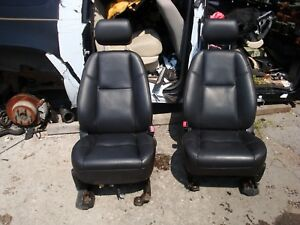 2010 14 Escalade Black Leather Seats Front Buckets Interior Heated Cooled