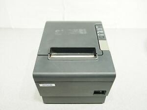 Epson Tm t88iv Thermal Parallel Kitchen Printer W Power Supply Tested Working