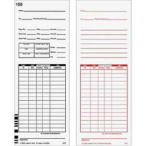 500 E79 Time Cards For Lathem 7000e And Lathem 7500e Calculating Time Clock