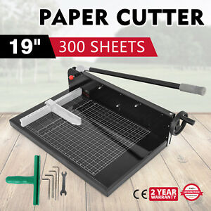 19 Width Guillotine Paper Cutter Heavy Duty Stack Paper Trimmer Durable Service