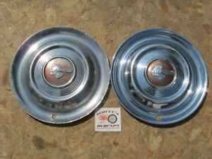 1951 Pontiac Star Chief Chieftain Catalina 15 Wheel Covers Hubcaps Pair Of 2