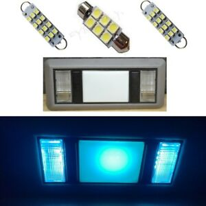 2 Map 1 Dome Ice Blue Led Lights For 1988 1998 Chevy Silverado Gmc Sierra