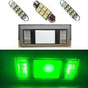 2 Map 1 Dome Green Led Interior Lights For 1988 1998 Chevy Silverado gmc Sierra