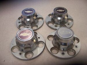 Set Of Four 4 1974 1987 15 Rally Wheel Center Caps Chevy 1500 Truck Blazer
