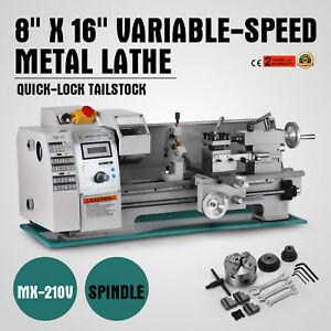8 X 16 variable speed Mini Metal Lathe Woodworking Milling Spindle Dc Motor