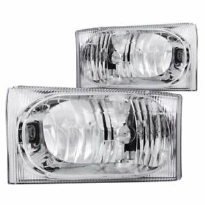 Anzo Usa 111023 Ford Crystal Chrome Headlight Assembly Sold In Pairs