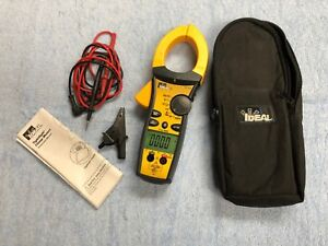 Ideal 61 775 1000a Ac dc Tightsight Clamp Meter W Case And Leads