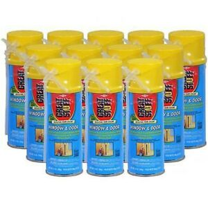 Dow Great Stuff Window Door Insulating Foam Sealant 12 Oz Case Of 12 Cans