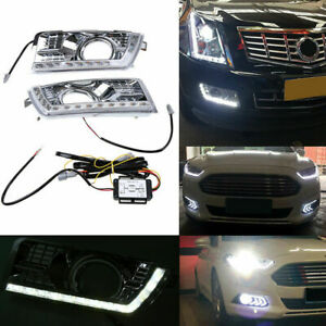 For Cadillac Srx Suv Drl Fog 10 16 Signal Led Daytime Running Light White yellow