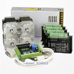 4 Axis Cnc Controller Kit Nema23 Stepper Motor 175 Oz in M335 Motor Driver 3 5a