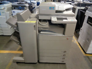 Canon Imagerunner Advance C5051 Color Copier W C1 Finisher Meter 182k ct