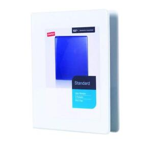 12 Pack Staples 3 Ring White Binders 5 Inch W View Window 2 Pockets Pvc Free