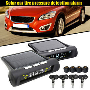 Solar Tpms Car Tyre Pressure Monitoring System Digital Auto Tire Security Alarm