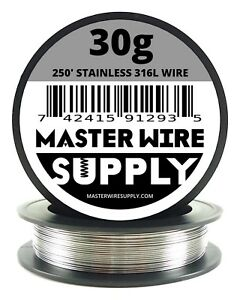 Mws Ss 316l 250 Ft 30 Gauge Awg Stainless Steel Resistance Wire 30g 250