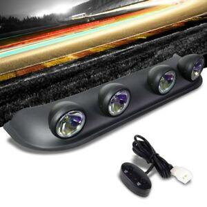 Roof Top Mount Fog Light Lamp Bar Black Bezel Neo Chrome Lens Fit Truck Suv Atv