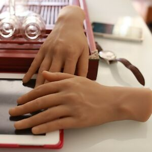 One Pair High Quality Realistic Silicone Male Mannequin Hands Displays Model