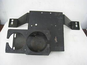 Crown Victoria Police Metal Console 25 Wide Bracket W Cup Holder Black