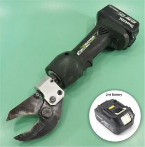 Greenlee Gator Es32l Cable Cutter With Two 2 Makita 18v Battery Packs
