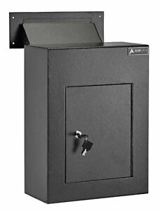 Adiroffice Through The Wall Drop Box Depository Safe With Key Lock