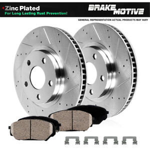 Front Drilled Slotted Brake Rotors Ceramic Pads For Honda Odyssey