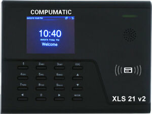 New Compumatic Xls 21 V2 Pin Rfid Prox Card Time Clock System W Wifi Tcp ip