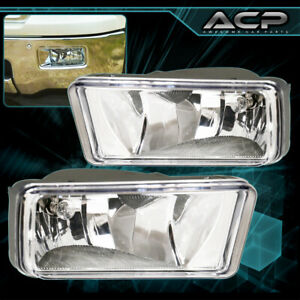 Clear Lens Chrome Housing Fog Lights Lamp For Silverado Avalanche Tahoe Suburban