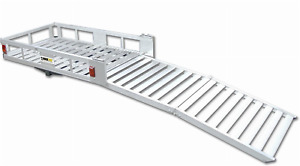 New Maxxhaul 70275 Aluminum Cargo Carrier With 60 Folding Ramp