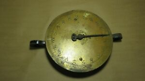 John Chatillon Sons 91892 Brass Face Hanging Scale 200 Lbs Serial 33 H Ny Usa