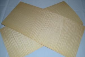 1 Pair Curly Maple Raw Wood Veneer Aaa Sheets At 10 X 23 Inches 1 42nd D8709 47
