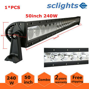 Philips 50inch 288w Led Work Light Bar Combo Offroad 4wd Suv Jeep Rzr Ford 48 52