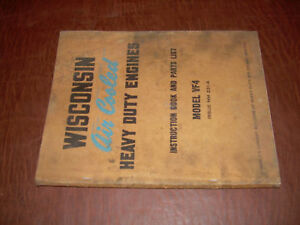 Wisconsin Gas Engine Service Parts List Manual Vf4