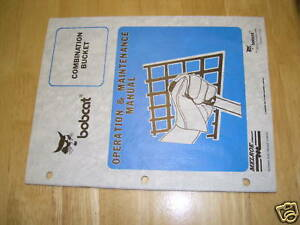 Bobcat Combination Bucket Skidsteer Service Manual