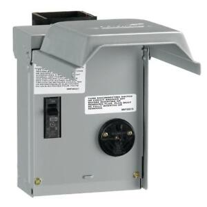 Rv 30 Amp Power Outlet Hookup Circuit Breaker Temporary Receptacle Box Enclosure