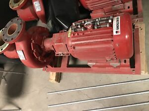 Armstrong 15hp Motor And Inline Pump Used As Chiller Circulation Pump