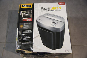 New Fellowes Powershred W11c 11 sheet Cross cut Paper And Credit Card Shredder
