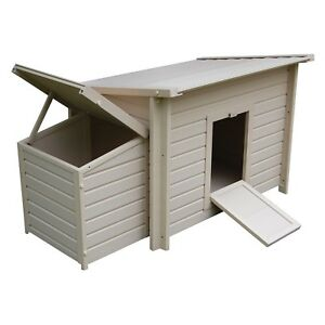 Chicken Cage Pet Barn Hen Coop House Wood Animal Shelter Poultry Backyard Farm
