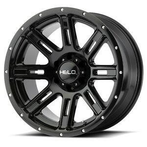 17 Inch Black Wheels Rims Chevy 2500 3500 Dodge Ram Ford Truck 8 Lug Helo He900